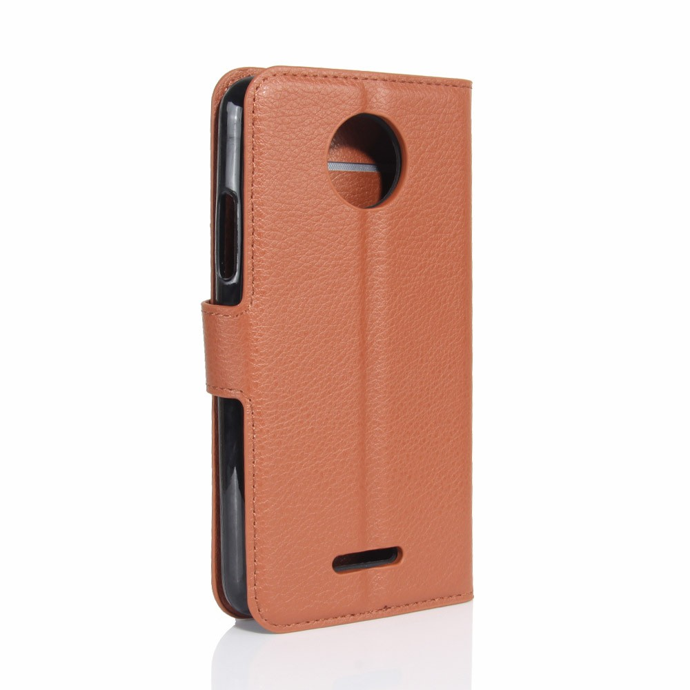 Flip leather case with tpu cover for Motorola moto C plus